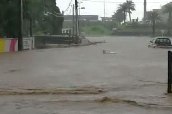 Des inondations à Maurice.