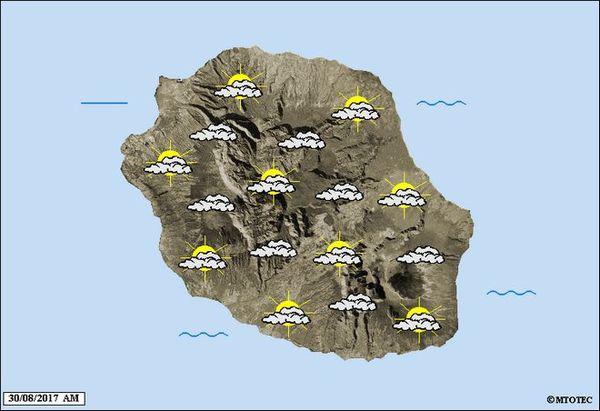 Carte météo mercredi 30 août 2017
