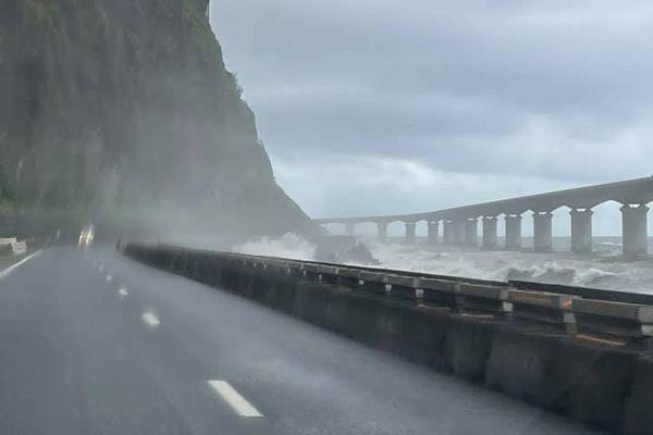 tempete Iman route du littoral basculement 070321