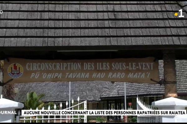 Une dizaine de ressortissants de Raiatea s'apprête à regagner l'île sacrée