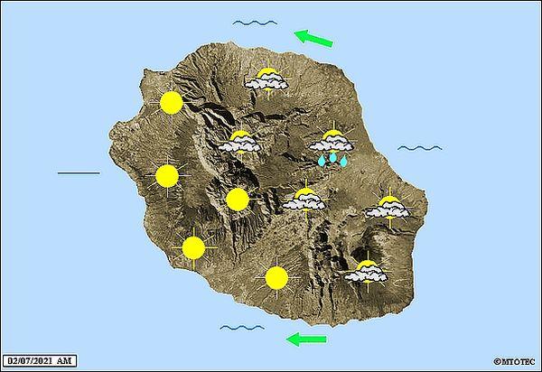 Carte météo 2 juillet 2021
