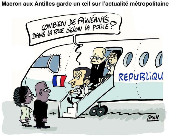 20170912 - Souch - E.Macron aux Antilles