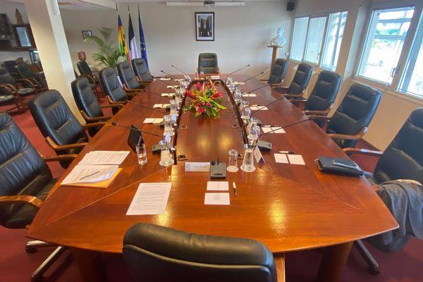 Salle des séances collégiales du gouvernement, 2 mars 2021.