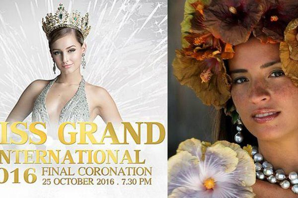 Vaiata Buisson participe à l'éléction Miss Grand International 2016