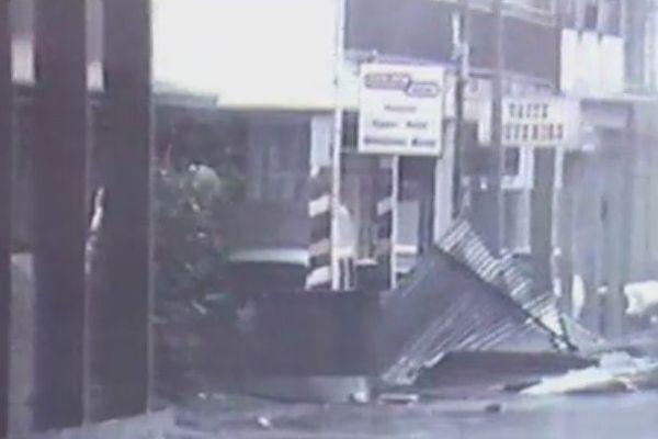 Papeete pendant les cyclones en 1983