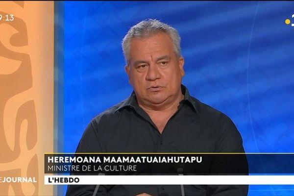 Le ministre de la culture :HEREMOANA MAAMAATUAIAHUTAPU était l'invité du journal de Polynésie la première.