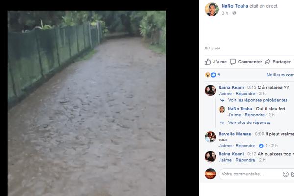 Inondation à Mataiea