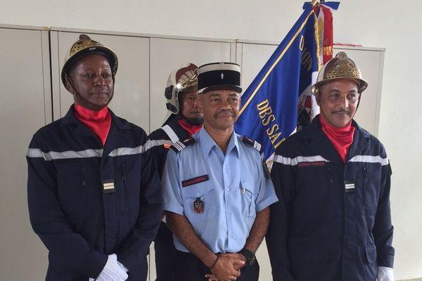 Passation de commandement à la caserne de pompiers de Macouria