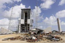 Rampe de lancement d'Ariane 6 en construction à Kourou (mars 2021)