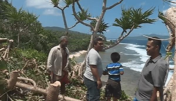 nettoyage du site de la porte de Pulotu à Futuna