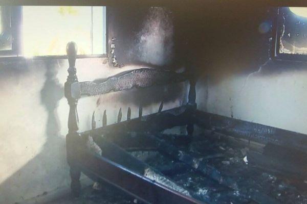 Maisons incendiées à Sainte Anne