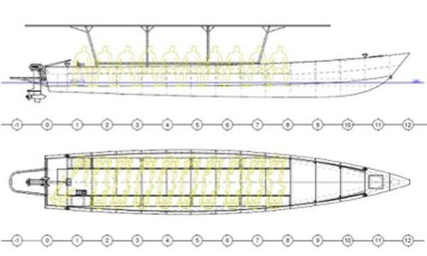 Prototype pirogue solaire
