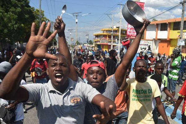 Manifestation vie chère Haïti février 2019