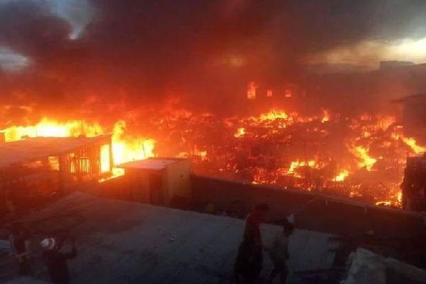 Incendie au 67ha Tananarive 24 juin 2020