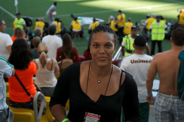 Lucie Decosse au stade Maracana