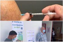 Ouverture du 1er centre éphémère de vaccination de Martinique, à Case-Pilote, contre la Covid-19 (5 mars 2021)
