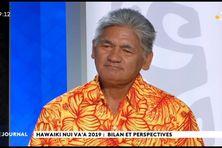 Invité du VEA et du JT,  Alfred Mata, directeur de course et vice-président de la Fédération Tahitienne de Va'a