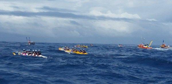 Peloton de tête - Hawaiki nui va'a 2015