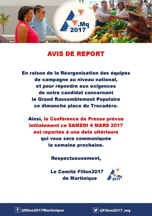 Comité Fillon Martinique