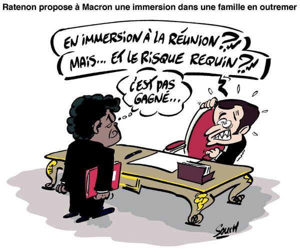 Le dessin de Souch : Ratenon/Macron