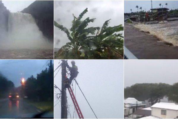 La Réunion : les images de la tempête Carlos sur les réseaux sociaux