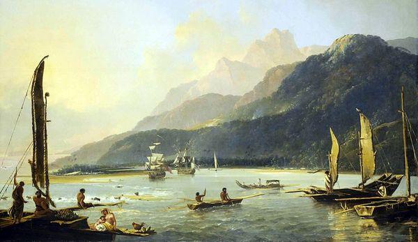 peinture baie de Matavai, Tahiti
