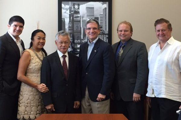 Gaston Tong-Sang et l'équipe de la municipalité de Las Vegas