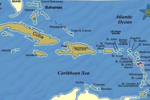 La Guadeloupe dans la Caraïbe