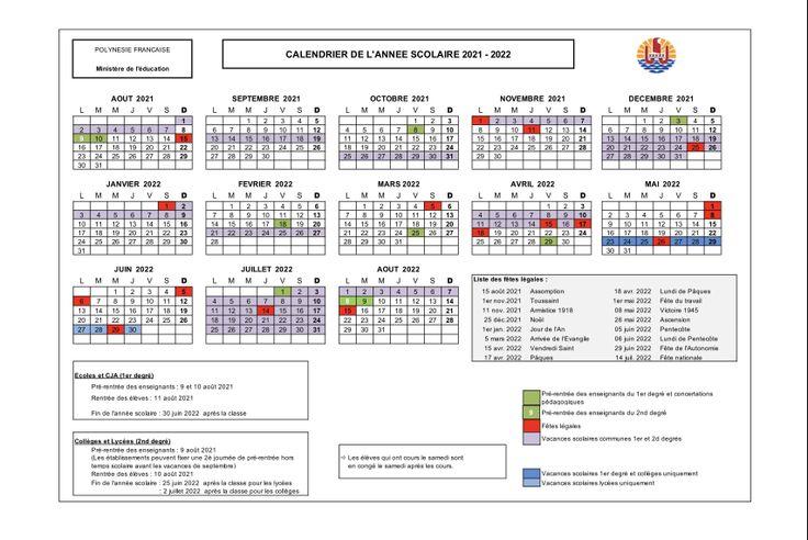 Calendrier Vacances Scolaires Européennes 2021 2022 Découvrez les calendriers scolaires jusqu'en 2023   Polynésie la 1ère