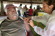 Vaccination à la tribu d'Unia, à Yaté, le 16 août 2021.