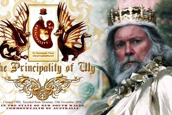 Visuel de la «Principality of Wy» en Australie, dont Paul Delprat est le dirigeant autoproclamé.