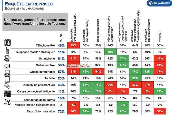 Étude : Maturité digitale et usages du numérique dans les entreprises martiniquaises