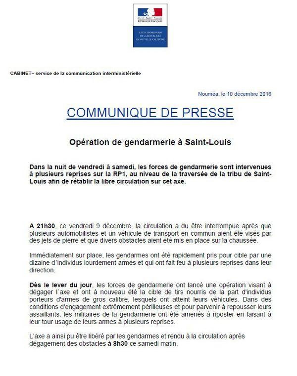 St louis Communiqué haussariat 10.12.16