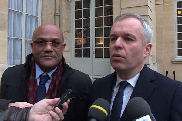 François de Rugy et Dominique Théophile sargasses
