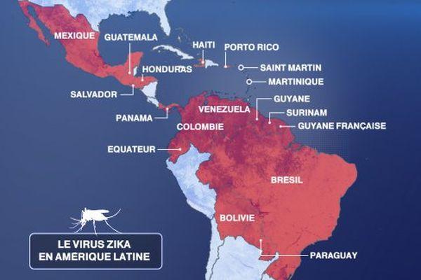 Le virus zika en Amérique latine