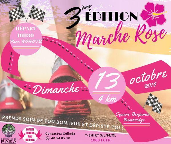 Une marche rose à Paea dimanche 13 octobre