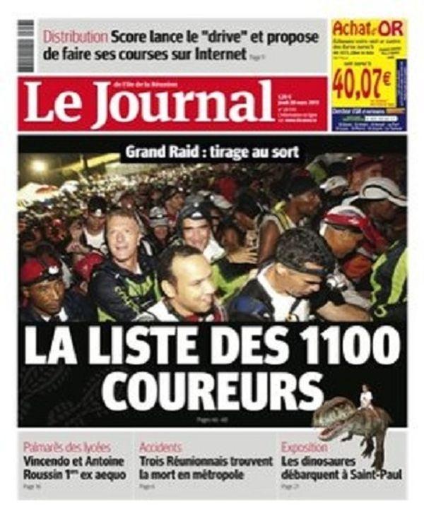 Le Journal de l'île de la Réunion du 28 mars 2013
