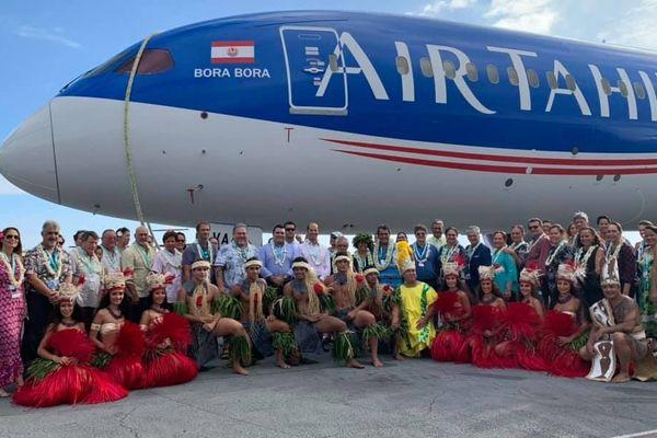 Cérémonie de bénédiction du nouvel avion de Air Tahiti Nui