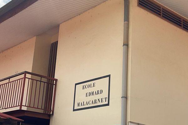 L'école Edmard Malacarnet à Cayenne