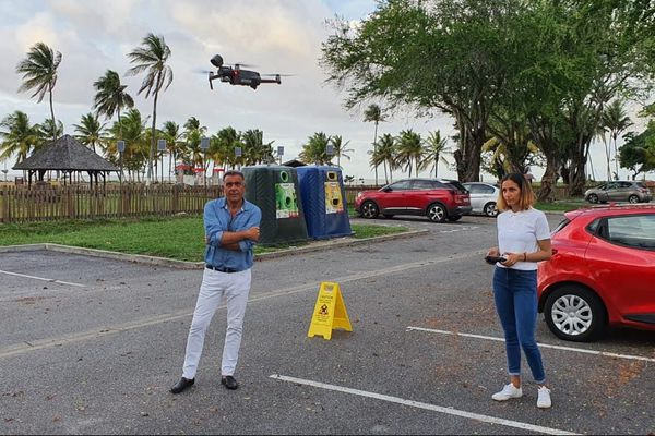 Coronavirus : la mairie diffuse ses messages d'alertes à l'aide de drones au dessus de Kourou