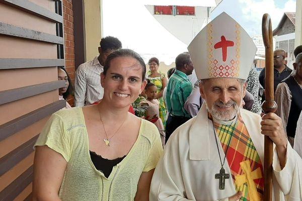 Emmanuel Lafont l'évêque de Guyane a mené cette messe de consécration