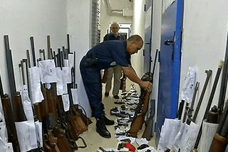 Restitution d'armes en Martinique 03/04/14