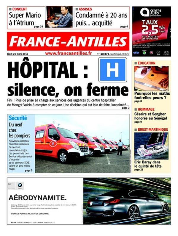 Une France Antilles Martinique 21mars