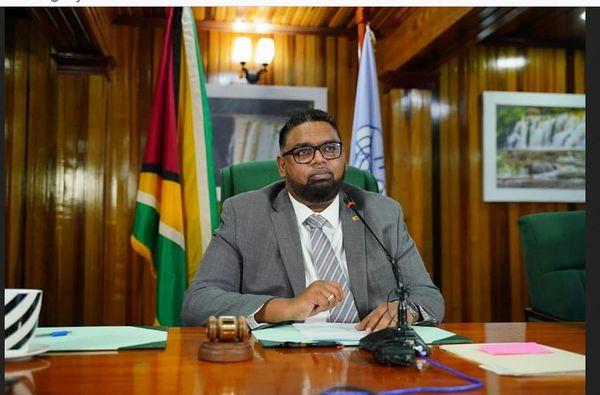 Guyana, président Irfaan Ali.