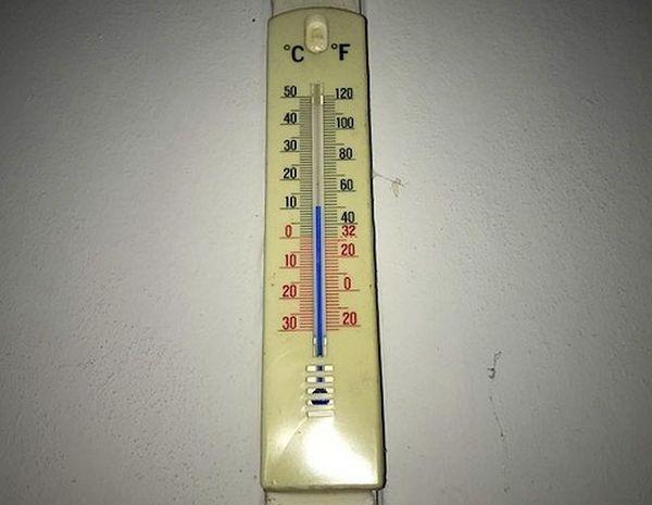 Thermomètre au Guillaume le matin 7 août 2018