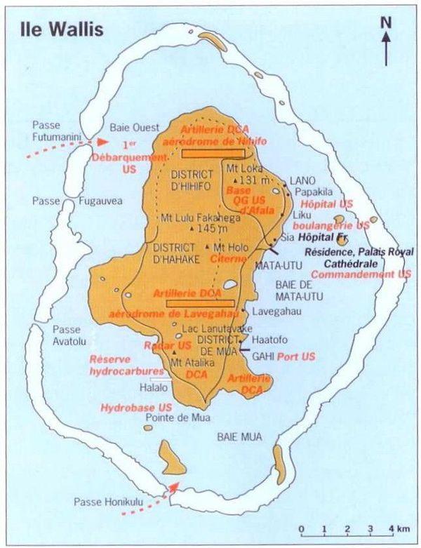 carte présence américaine sur Wallis