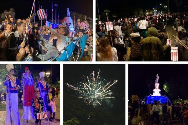 13 juillet 2020 à Nouméa : lampions, feu d'artifice