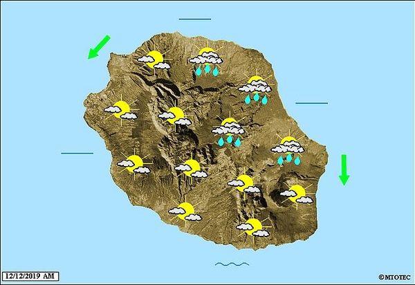 Carte météo 12 décembre 2019