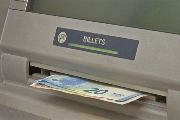 Banque gab guichet billets