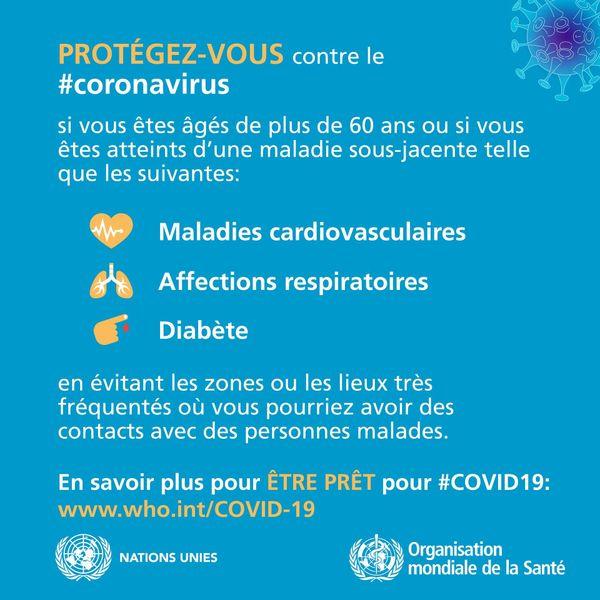 Recommandations de l'organisation mondiale de la santé.